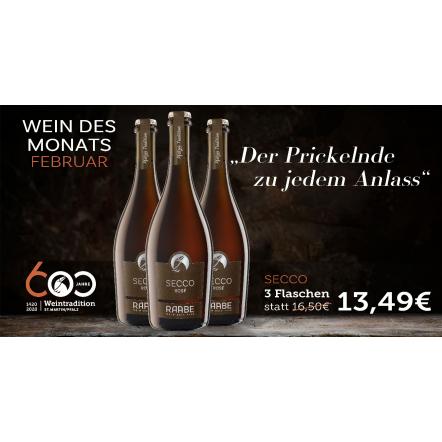 Wein des Monats Secco rosé 2018
