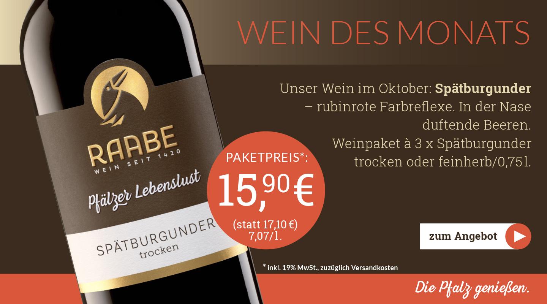 Weingut Raabe - Wein des Monats