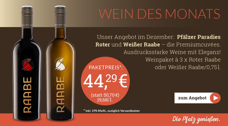 Weingut Raabe - Weinpaket Dezember