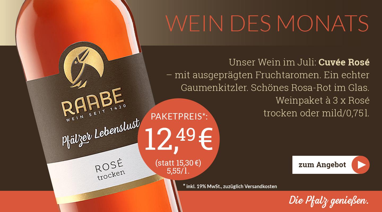 Weingut Raabe - Weinpaket Juli